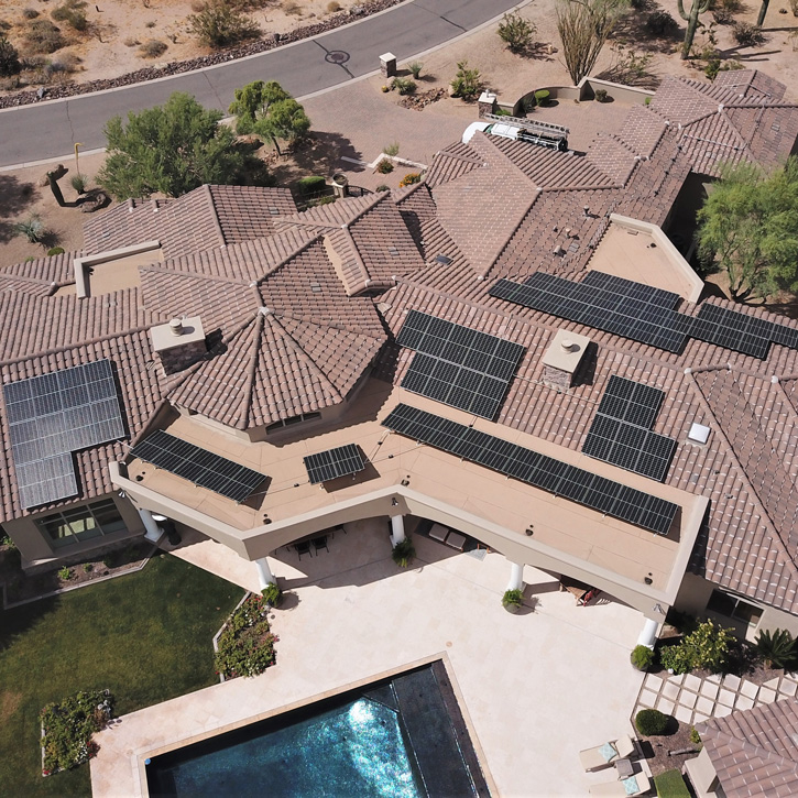 Solar for homes with premium REC solar panels